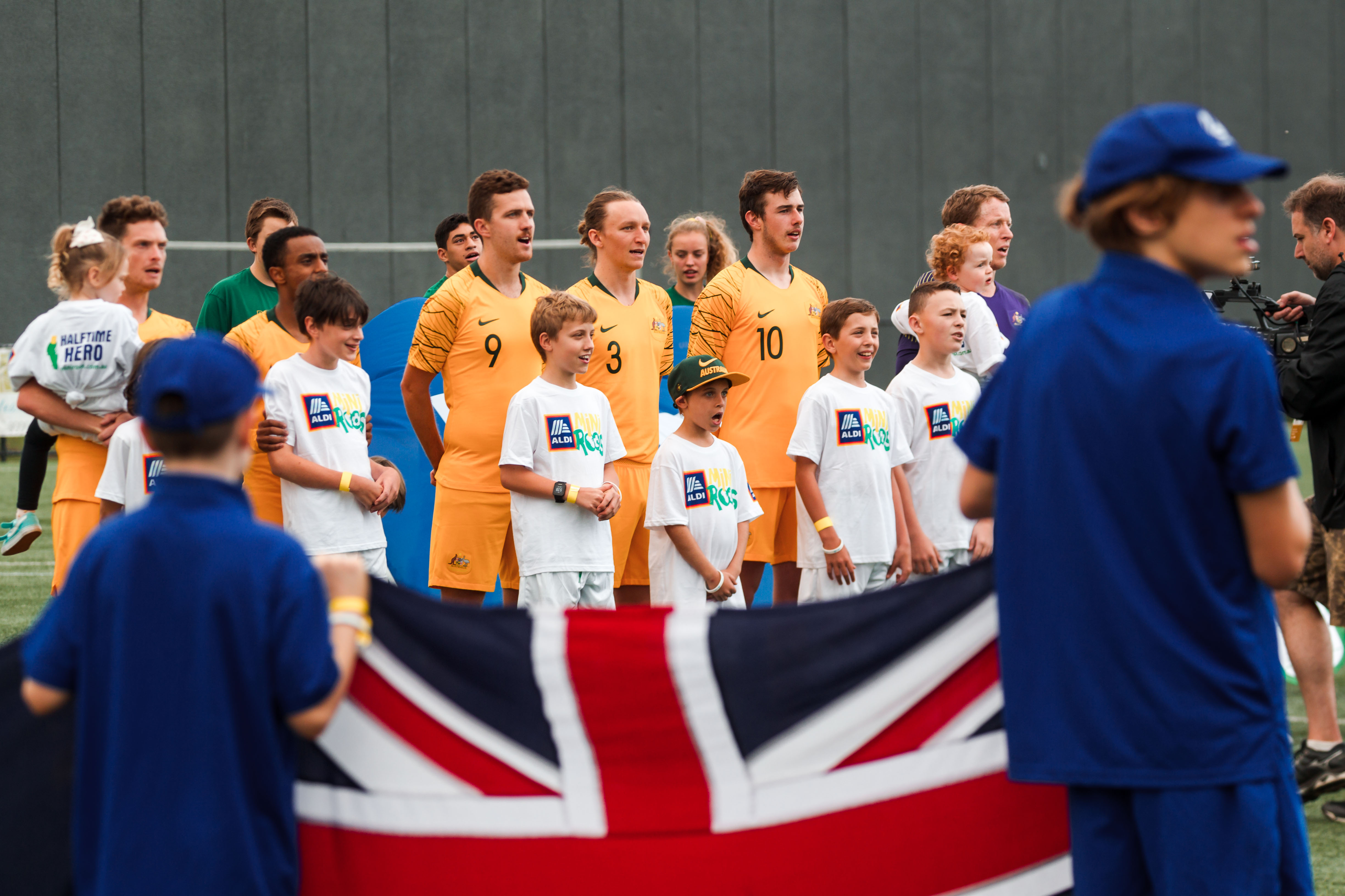 The Pararoos sing the national anthem against Canada
