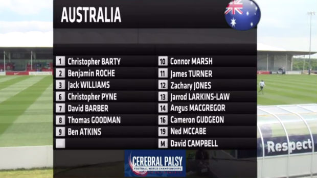Pararoos starting side against Ireland.