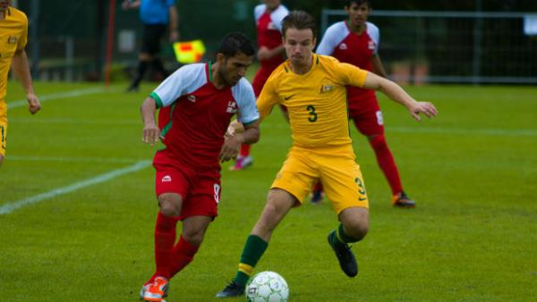 Pararoo Jack Williams in action against Iran.